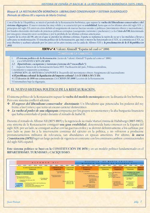 T7. LA RESTAURACIÓNhasta1902