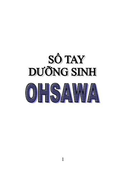 Sổ Tay Dưỡng Sinh Ohsawa