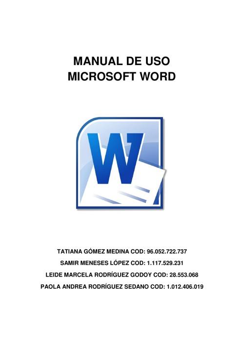 Manual de uso del programa de Microsoft Word