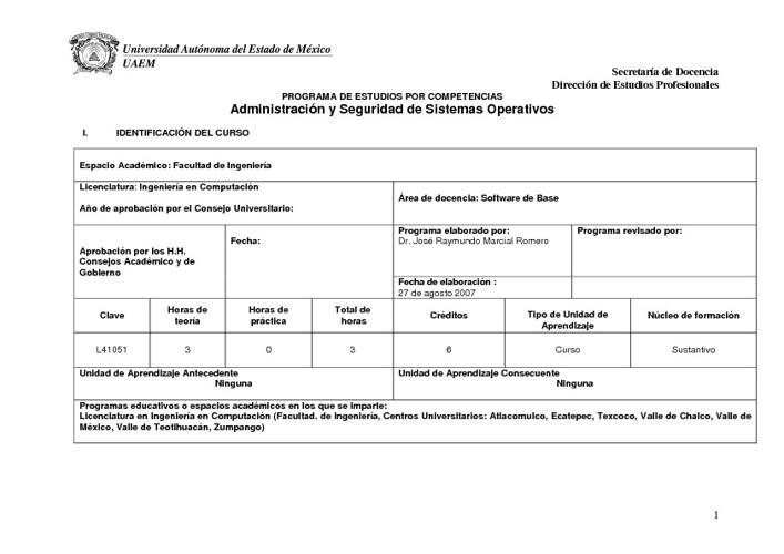 TEMARIO ADMINISTRACION Y SEGURIDAD