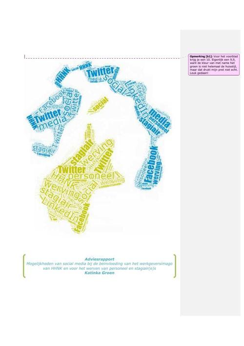 Adviesrapport INHolland - eerste feedback verwerkt
