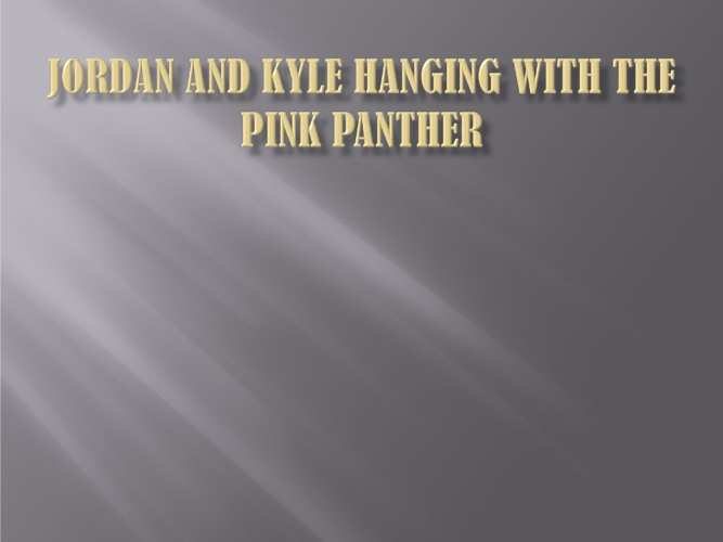 hanging with pink panther