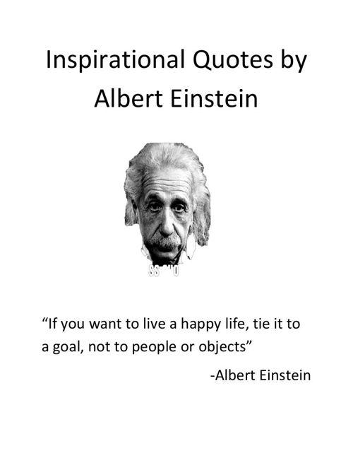 Inspirational Quotes by Albert Einstein