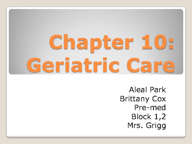 Geratic Care