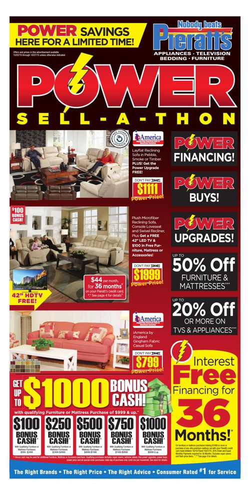 Power Savings continue this week at Pieratt's!
