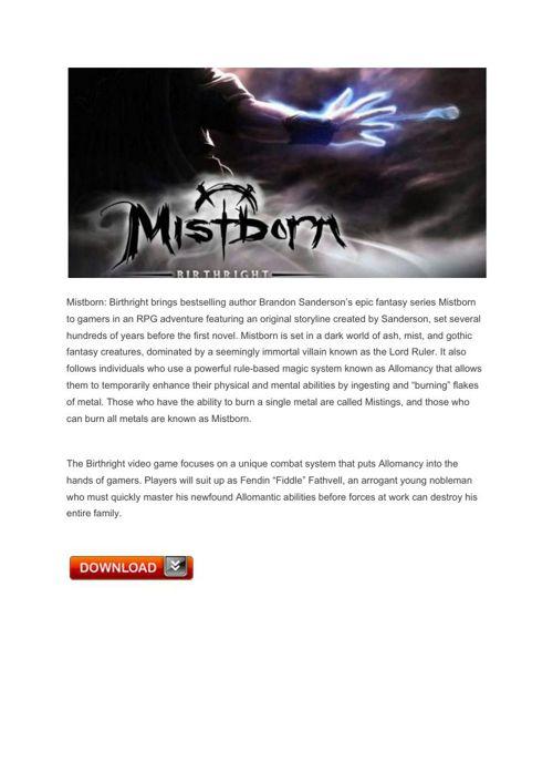 16 Mistborn Birthright – PlayStation3