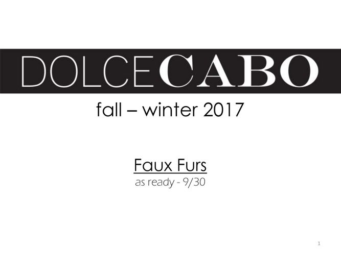 FALL FAUX FUR 2017