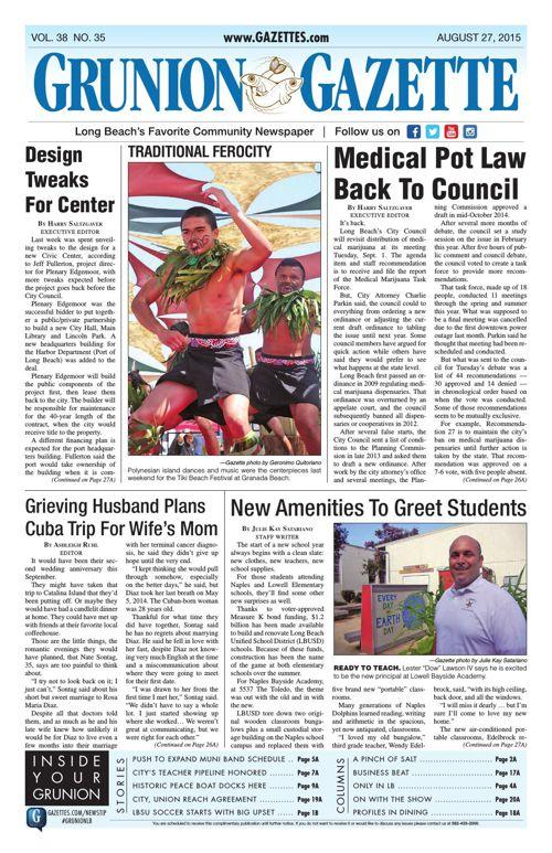 Grunion Gazette | August 27, 2015