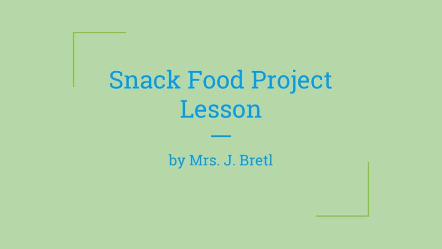 Snack food research