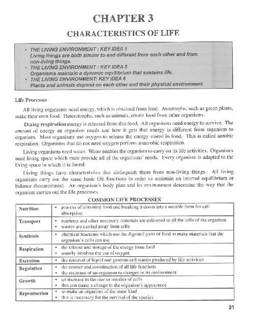Ch 3: Characteristics of Life