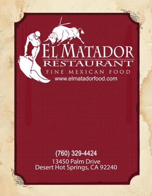 El Matador Restaurant Menu