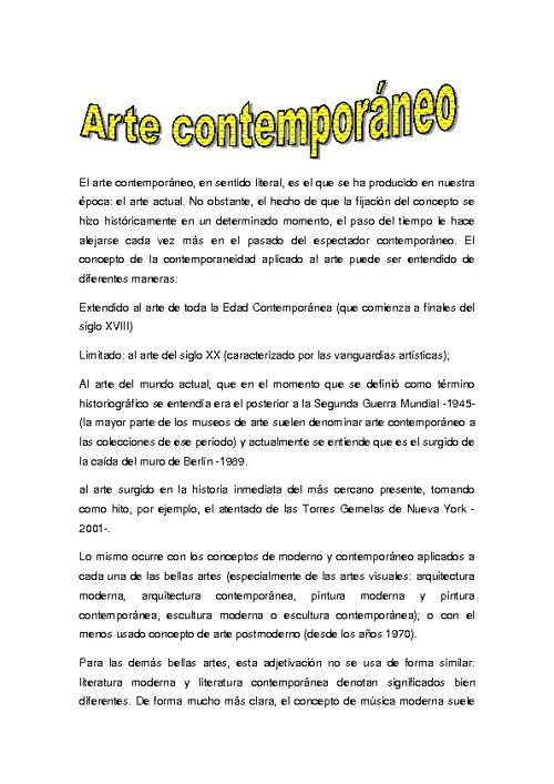 ARTE CONTENPORANEO