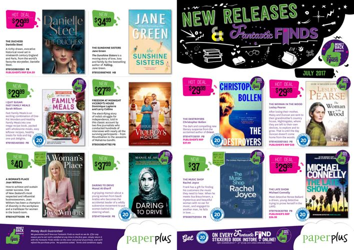 New Releases JULY 2017 mailer