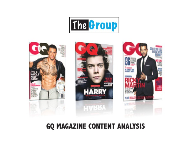 Content Analysis For GQ Magazine