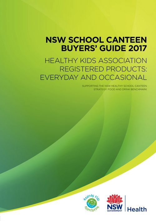 2017 Healthy Kids NSW School Canteen Buyers' Guide