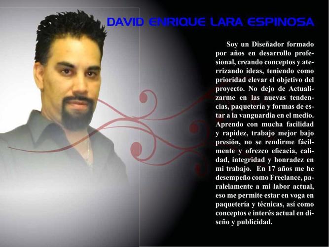 CV y Portafolio ind david lara 2014