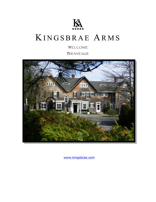 Kingsbrae Arms eBrochure