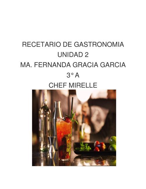 RECETARIO DE GASTRONOMIA FER
