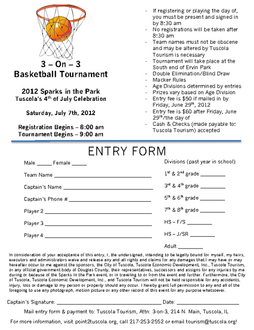 2012 3-on-3 Basketball Registration Form