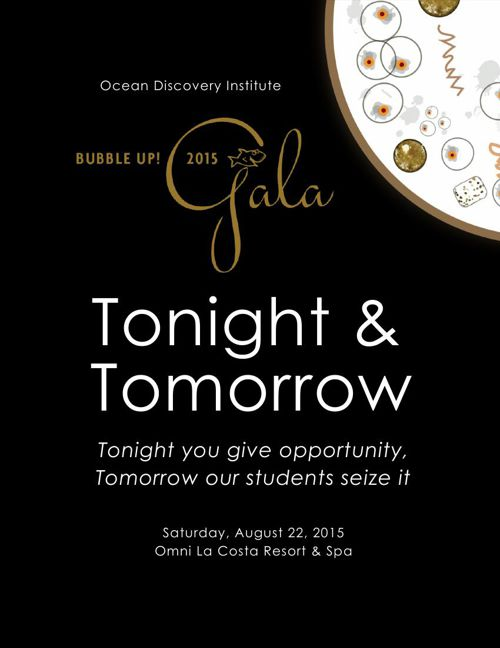 Ocean Discovery Institute Bubble Up! Gala Electronic Program 201