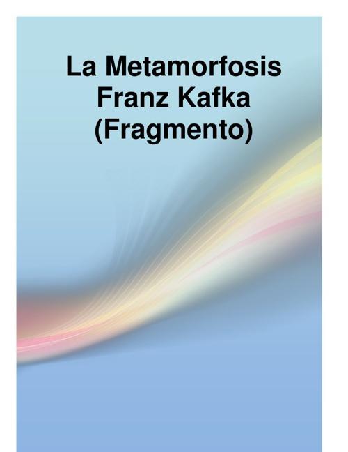 La metamorfosis (fragmento)