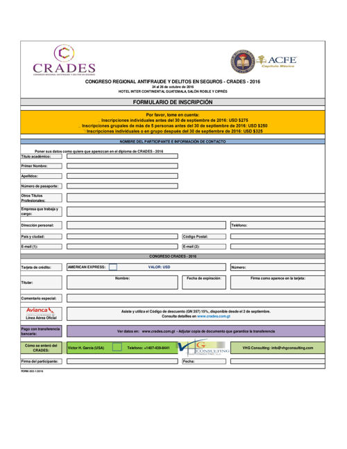 FORMULARIO INSCRIPCIÓN - CRADES VHG