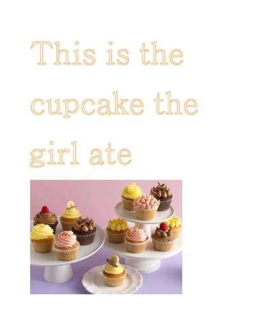 This is the cupcake the girl ate