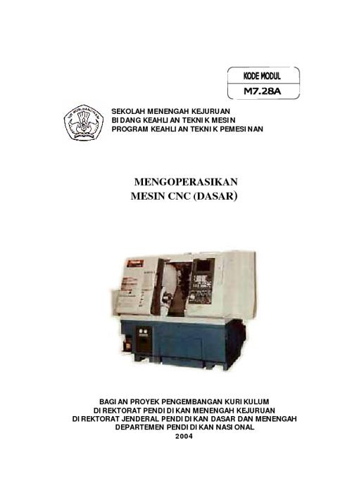 e-book mengoperasikan mesin cnc dasar