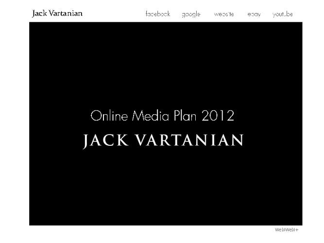 Online Media Plan - Jack Vartanian
