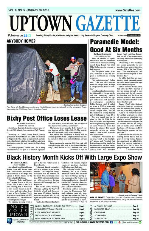 Uptown Gazette  |  January 30, 2015