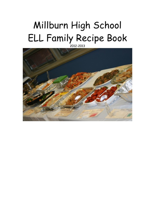 ELL Family Recipe Book
