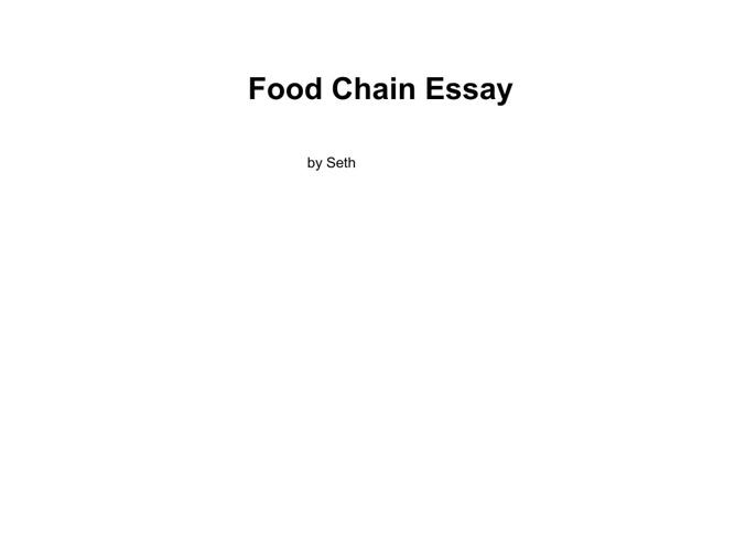 Food Chain Essay