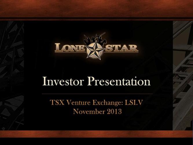 November 2013 Investor Presentation - Lonestar West