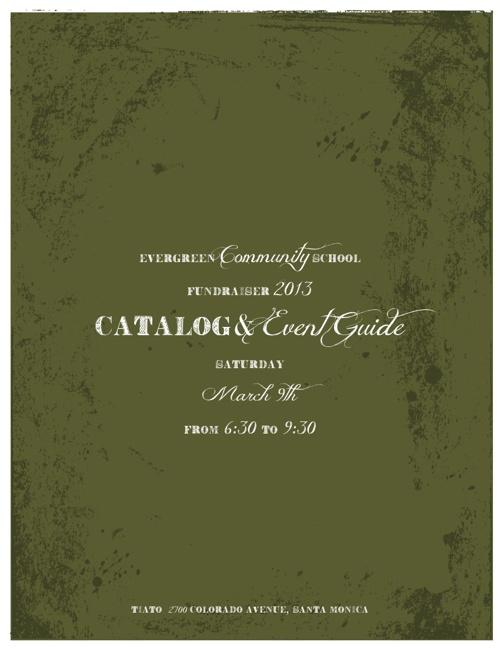 Evergreen Annual Fundraiser Mar 9, 2013 - Catalog & Event Guide