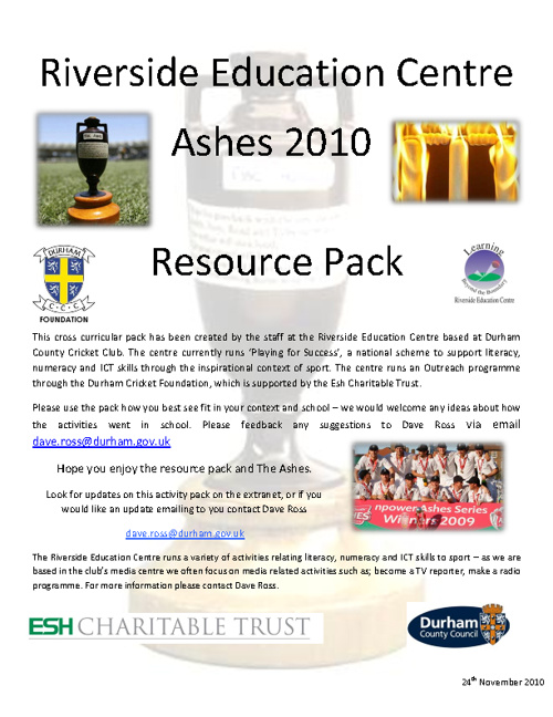 Ashes Activities