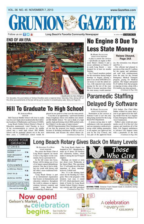 Grunion Gazette | November 7, 2013