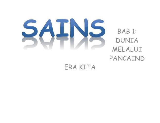 SAINS BAB 1(TINGKATAN 2)