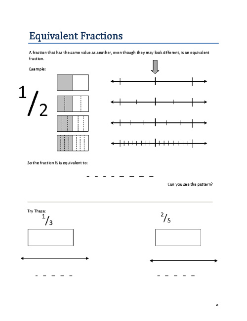 Math 9 A - Fractions unit