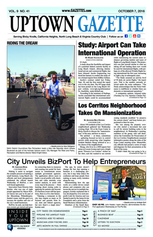 Uptown Gazette  |  October 7, 2016