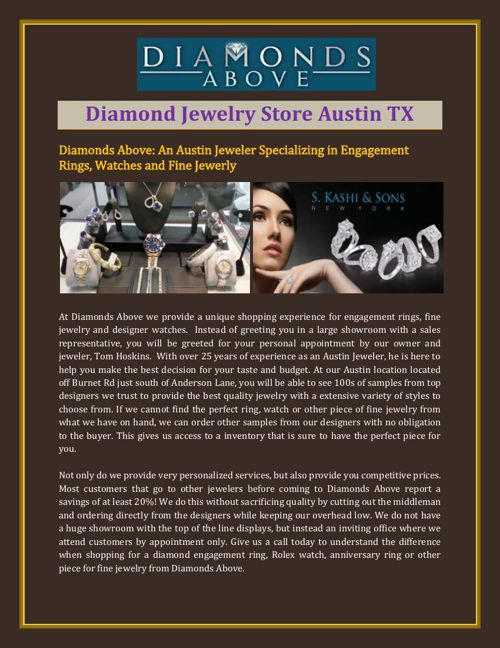 Diamond Jewelry Store Austin TX