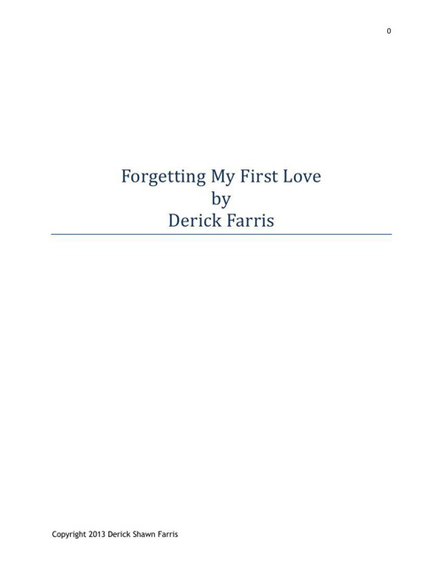 3152014 Final Edit DSF's Book Forgetting My First Love