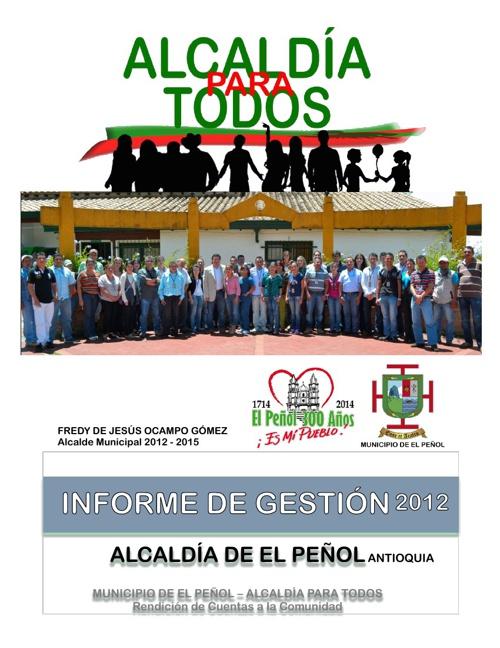 EL PEÑOL INFORME DE GESTIÓN 2012
