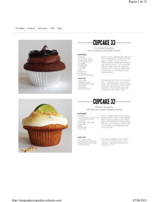 33 recetas de cupcakes