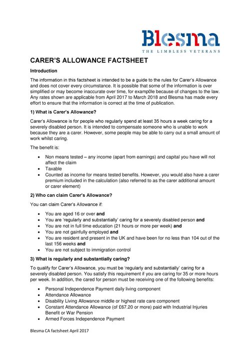 blesma-carers-allowance-factsheet