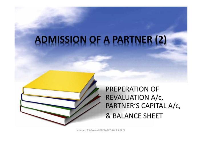 ADMISSION OF A PARTNER (2)