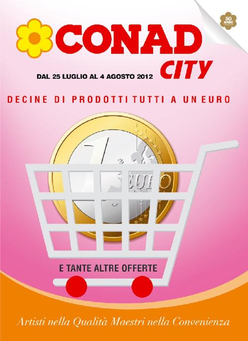 CONAD CITY DECIDE DI PRODOTTI AD 1€