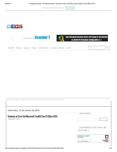 Programas Gratis - WindowsCracker1_ Solucion al Error Del Micros