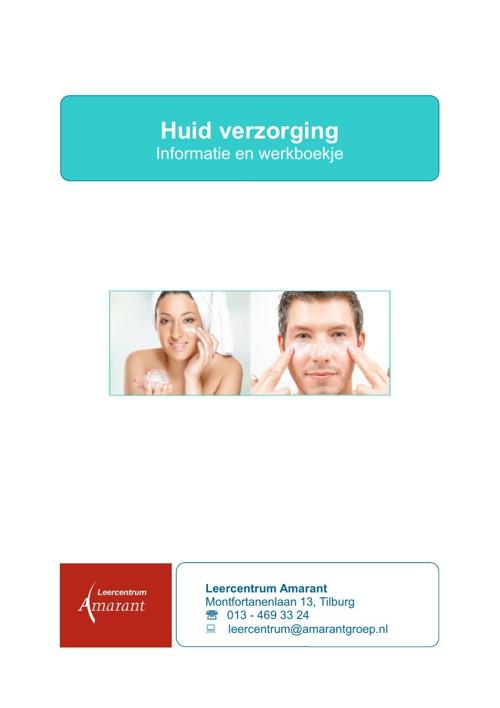 Informatie en werkboekje huidverzorging