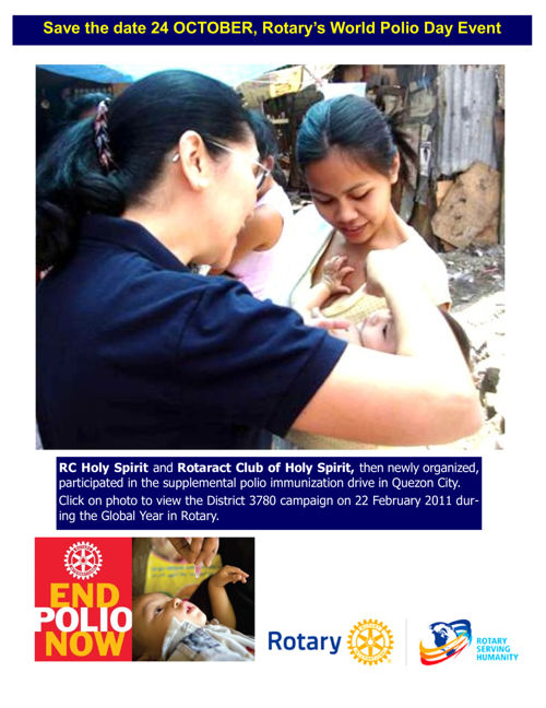 End Polio Now poster