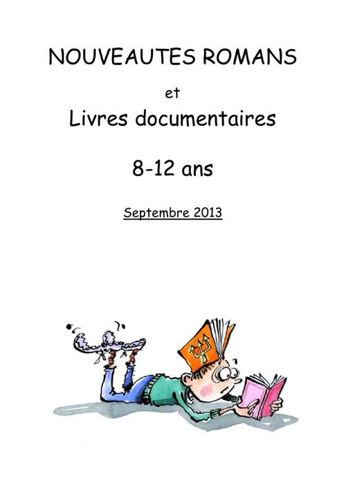 Nouveautés 8-12 ans septembre 2013
